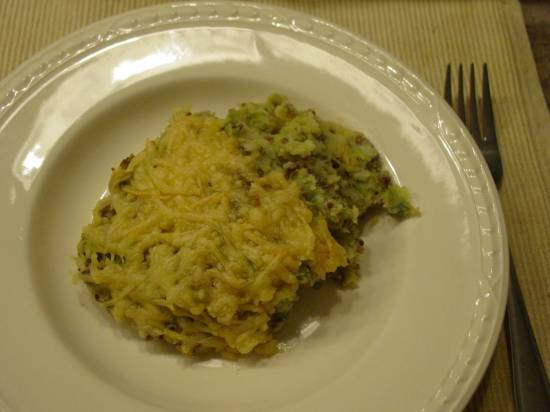Heerlijke spruitenstamp met gehakt en kaas recept
