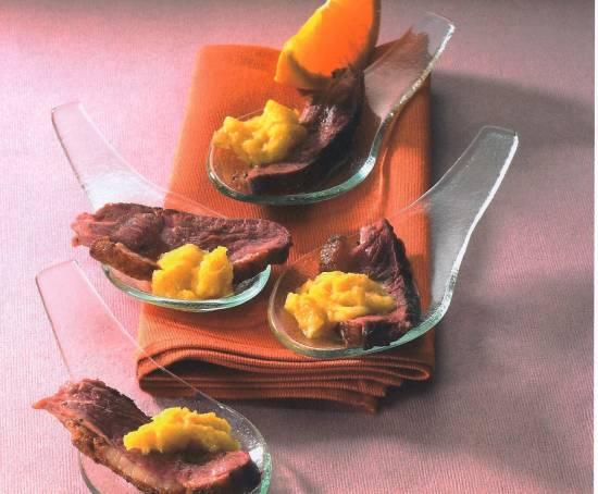 Amuse van eendenborstfilet met honing en sinaasappel recept ...
