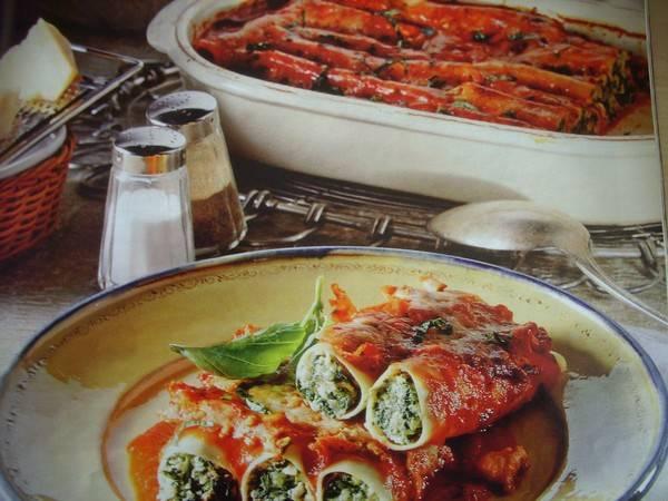 Canneloni met spinazie-ricotta vulling recept