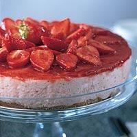 Kwarktaart met aardbeien recept