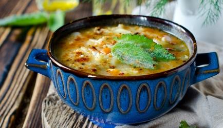 Soep met zoete aardappel en courgette recept