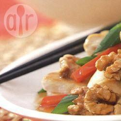 Chinese kip met walnoten recept