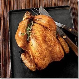 gevulde hele kip uit de oven