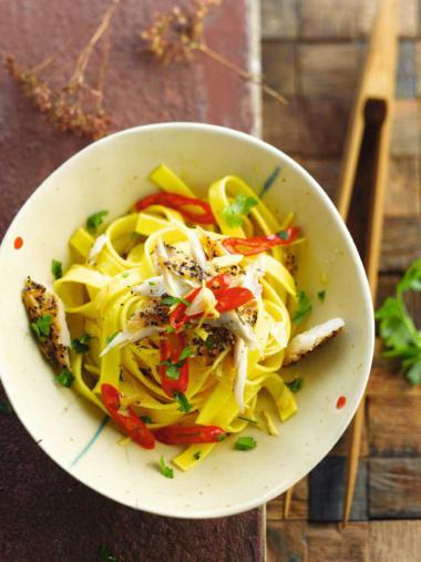 Recept 'pasta met gember en makreel'
