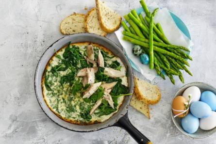 Omelet met groene asperges