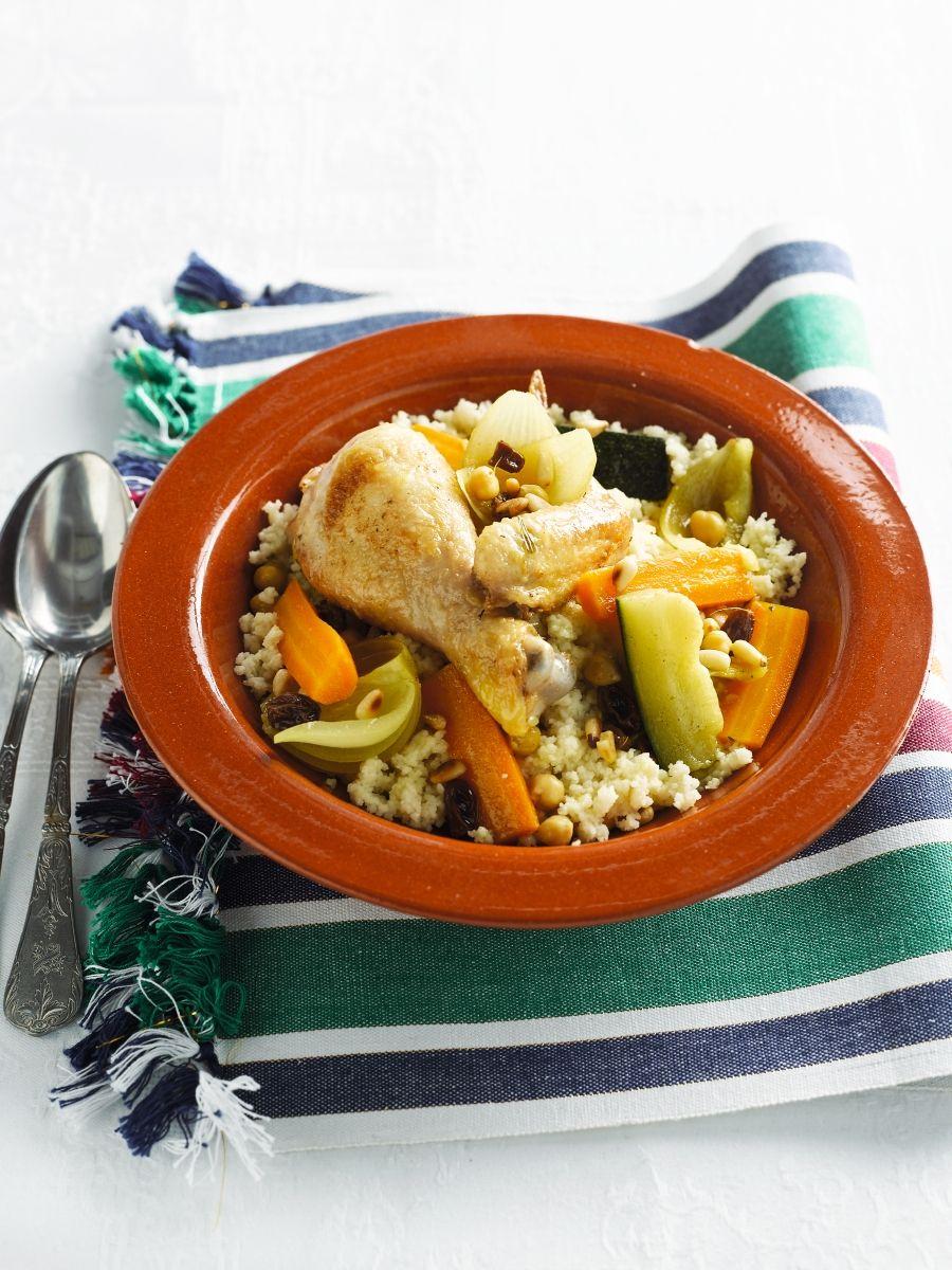 Recept 'couscous met groenten & kip'