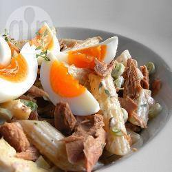 Pastasalade met tonijn-mayonaise recept