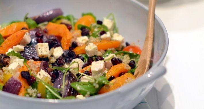 Quinoa salade met pompoen en feta
