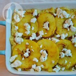Zuurkoolstamppot met kerrie-appeltjes recept