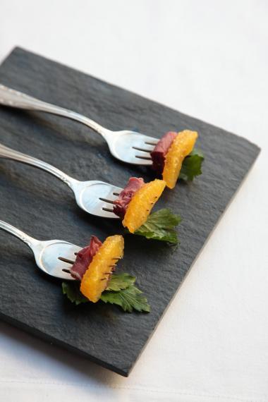 Recept 'vorkhapje met gerookte eend'