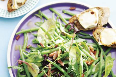 Salade warme geitenkaas