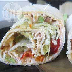 Pittige kalkoen wraps recept
