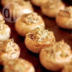 Met geitenkaas gevulde champignons recept