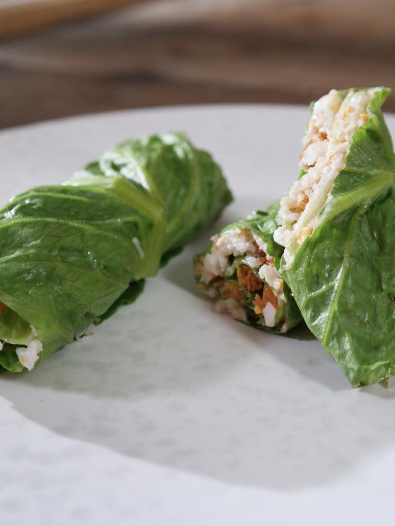 Recept 'salade van noordzeekrab'