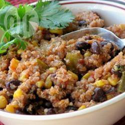 Vegetarische quinoa en zwarte bonen chili recept