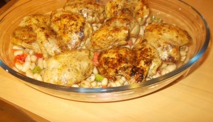 Pittige toscaanse kipdijfilet met pepers knoflook en groenten uit ...