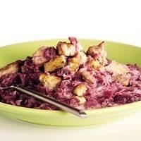 Rodekool-cranberrystamppot recept