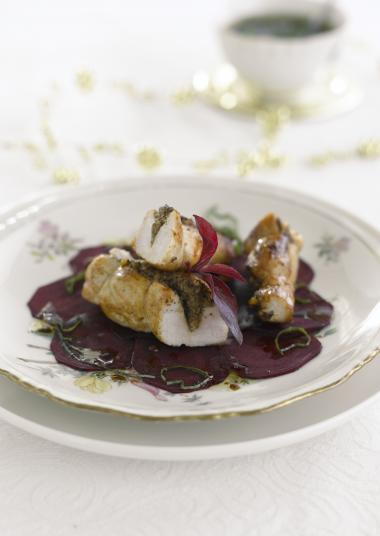 Recept 'gevulde konijnenrug met morieltjes'