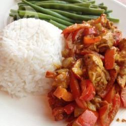 Kip curry met sperziebonen en rijst recept