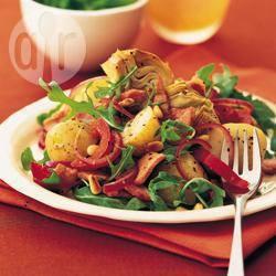 Warme aardappelsalade met spek recept