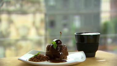 Recept 'chocoladebrownie met hazelnoten'
