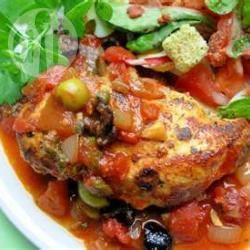 Spaanse ovenschotel met kip en chorizo recept