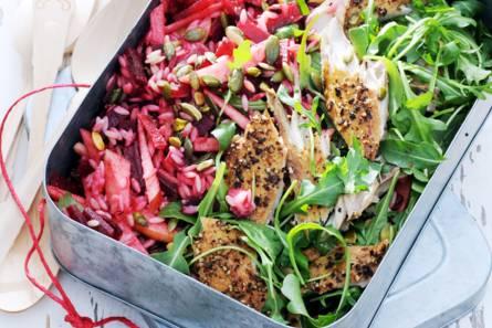 Risosalade met makreel, rode biet & rucola