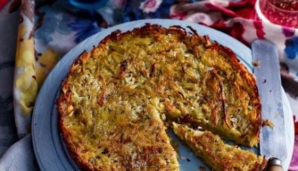 Gigantische aardappelrösti uit de oven recept