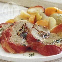 Gevulde varkenshaas met pruimedanten recept