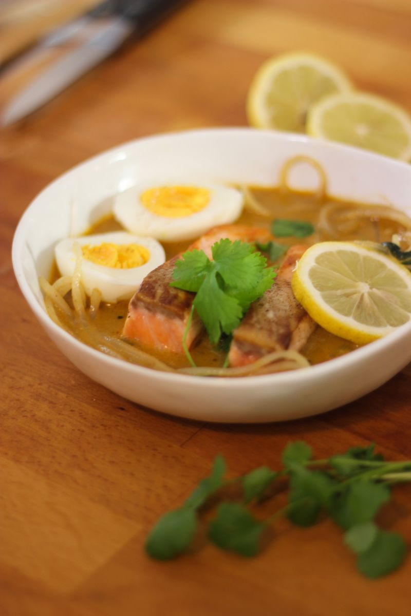 Recept ' currysoep met rammenasspaghetti'