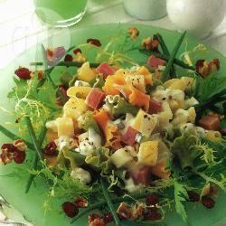 Fruitige pastasalade recept