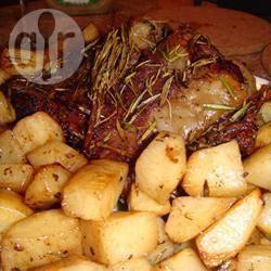Geroosterd lamsvlees met sinaasappel op griekse wijze recept ...