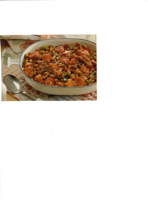 Bruine bonenpannetje met rookworst (eenpansgerecht) recept ...