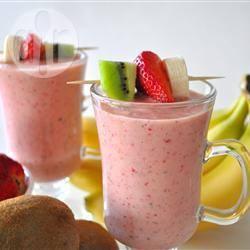 Kiwi-aardbei smoothie recept