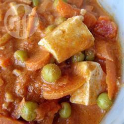 Keema curry met kokos en tofu recept
