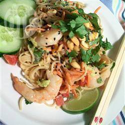 Thaise noedelsalade recept