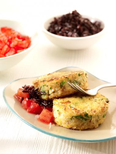 Recept 'amerikaanse crabcakes met tartaar van tomaten'