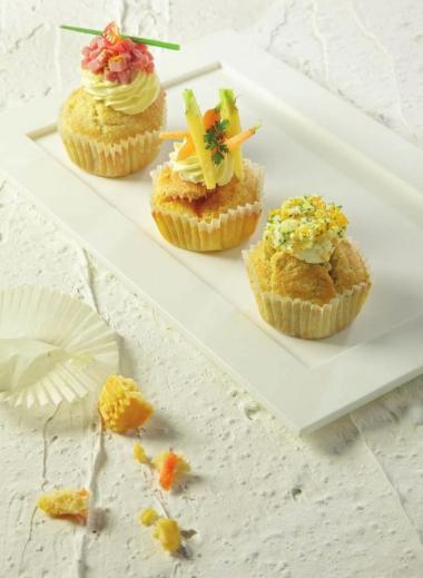 Recept 'ham & kaas cupcakes'