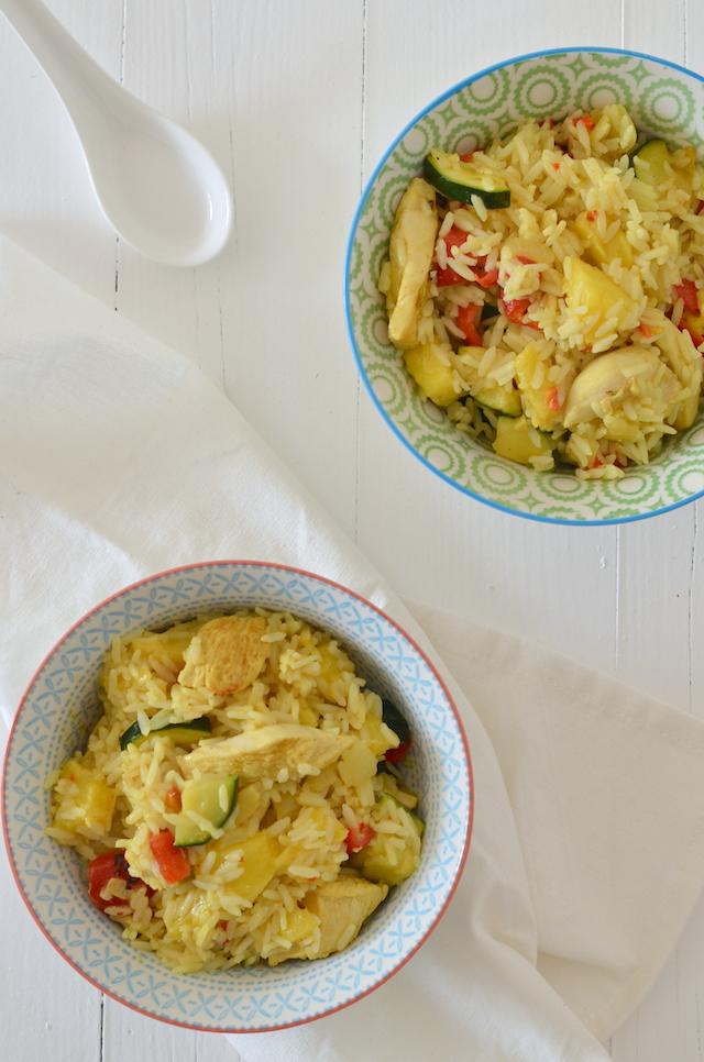 Fresh & easy: snelle kerrierijst met kip