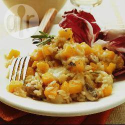 Risotto met kalebas en taleggio recept
