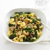Tortellini`s met spinazie en ham recept