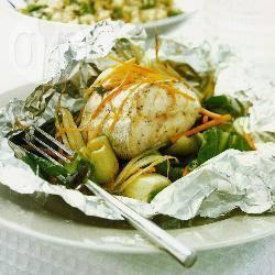 Heek met groenten uit de oven recept