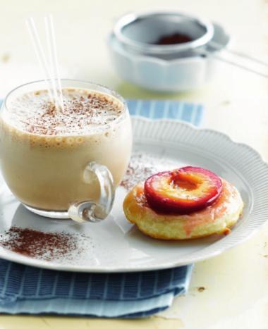 Recept 'pruimentaartje met koffiesmoothie'