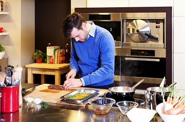 Recept 'rollade van mechelse koekoek met risotto'