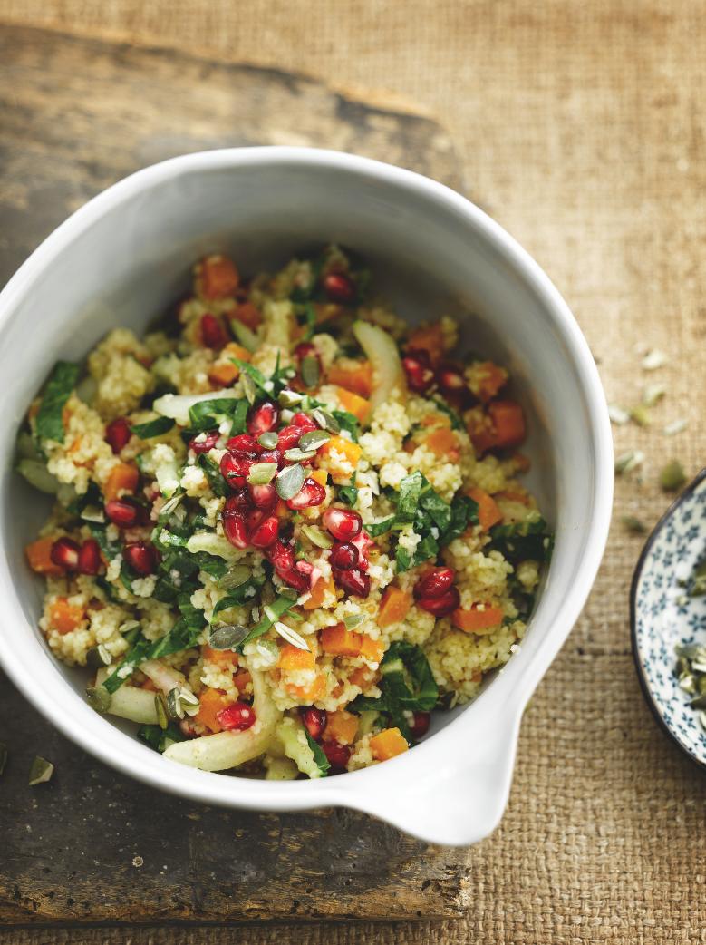 Recept 'couscous met zoete aardappel en paksoi'