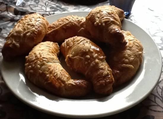 Croissant met roomkaas-zalm vulling recept
