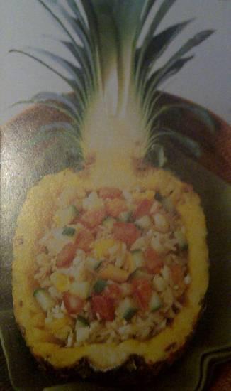 Gebakken rijst in ananas recept