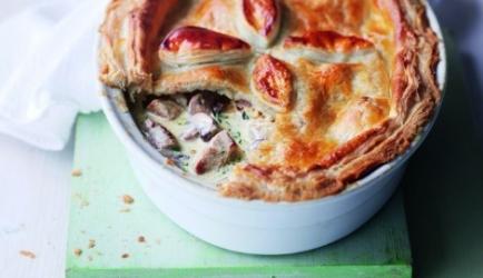 Romige varkenshaas-champignon pie recept