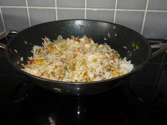 Oosterse rijst-wokschotel recept