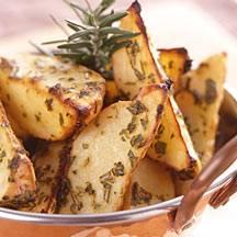 Aardappelpartjes met kruiden en knoflook recept